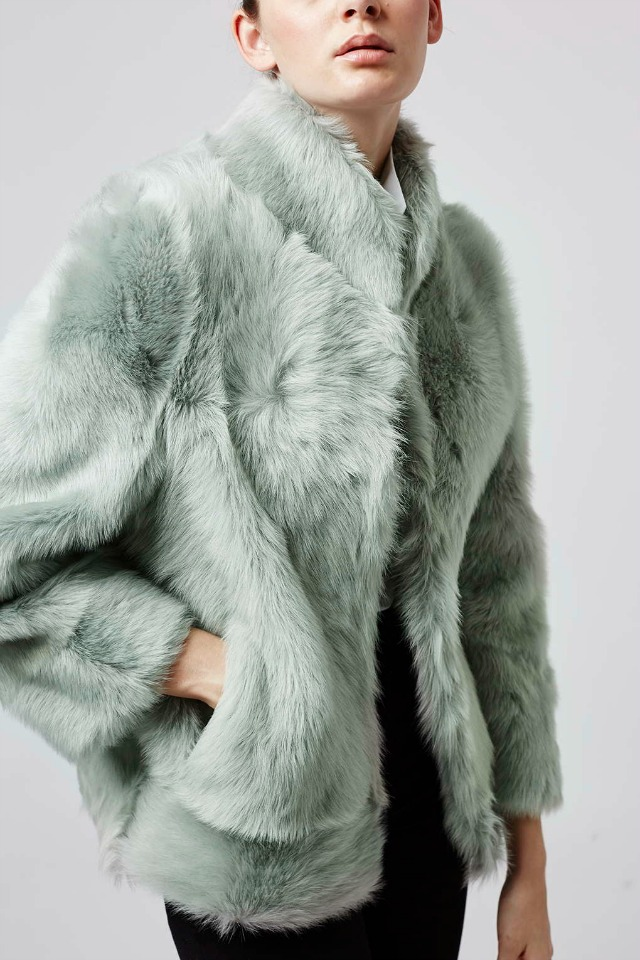 Topshop shearling coat