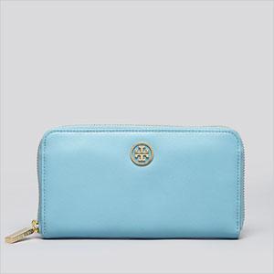 tori burch blue sky wallet