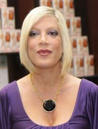 Tori Spelling's out of the hospital
