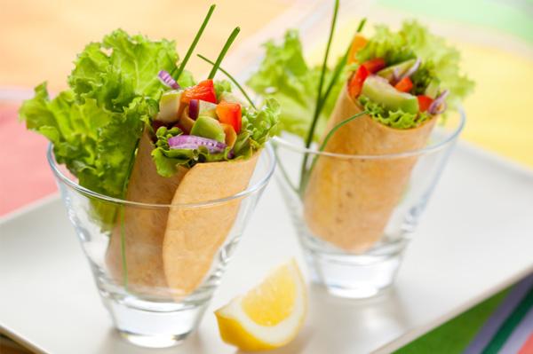 Tortilla wrap with avocado