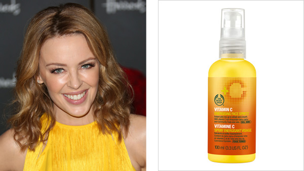 Ever wonder how Kylie Minogue keeps her skin looking so amazing? The answer: The Body Shop's Vitamin C Face Spritz