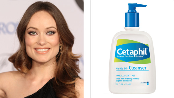 Olivia Wilde not only swears by Cetaphil Gentle Skin Cleanser, but looks fabulous doing it.