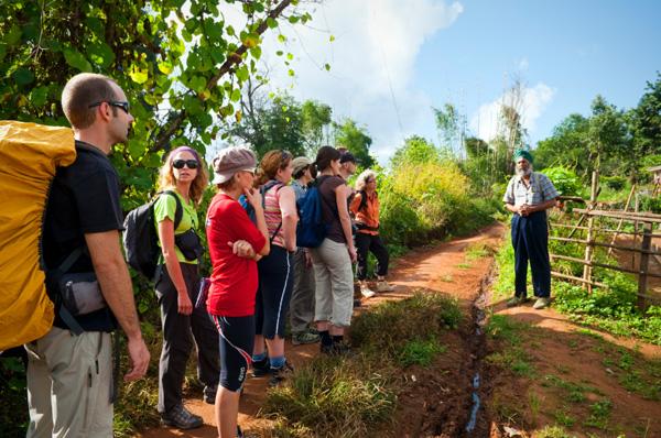 Tour guide in Myanmar
