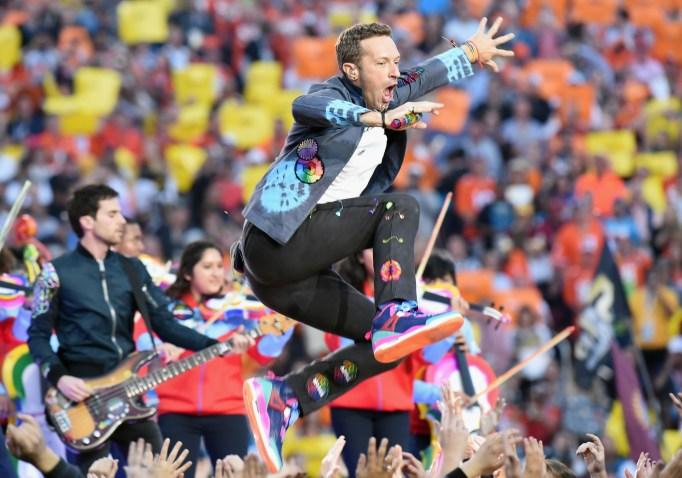 Chris Martin show Super Bowl 50