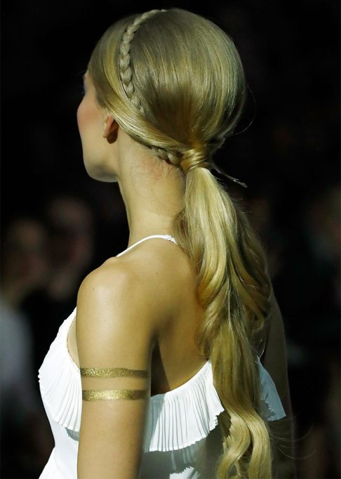 Low Ponytail with a Braided Headband