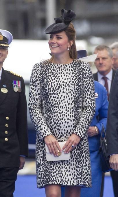 Kate Middleton Dalmation print coat