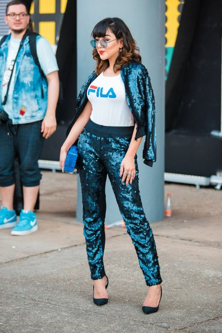 Non-Cheesy Ways to Wear Sequins: The sequin suit | Fall Fashion Trends 2017