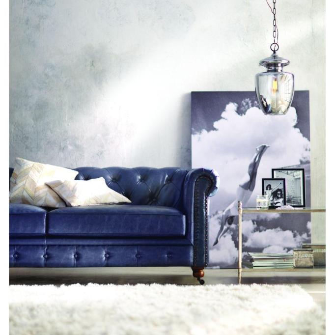 Gordon Blue Velvet Sofa