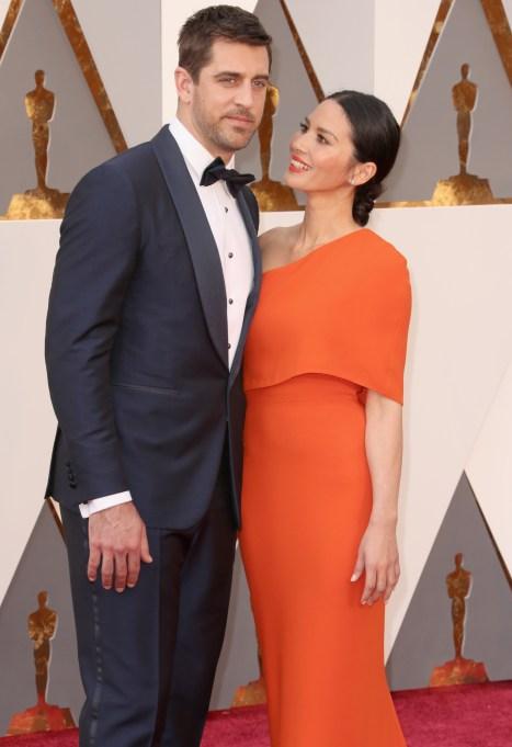 Olivia Munn & Aaron Rodgers Oscars 2016