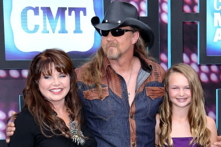 Trace Adkins and his family