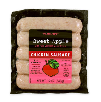 Trader Joe's sweet apple chicken sausage