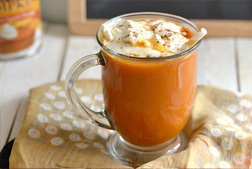 hot pumpkin drink with whipped topping
