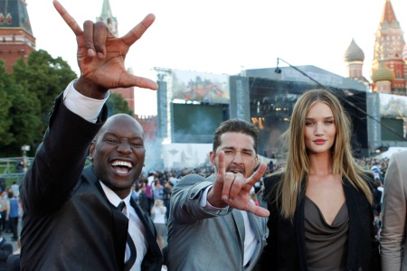 Transformers stars premiere in Moscow