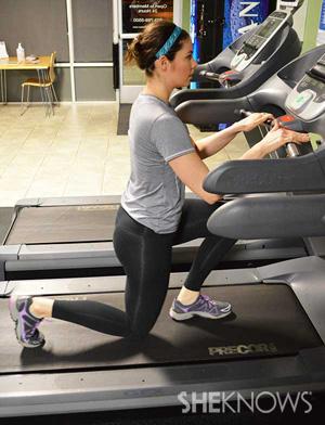 treadmill lunge