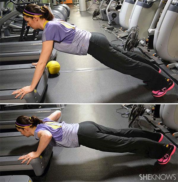 Treadmill pushup