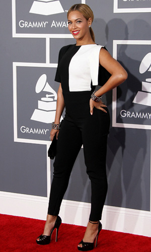 Beyonce at the 2013 Grammys