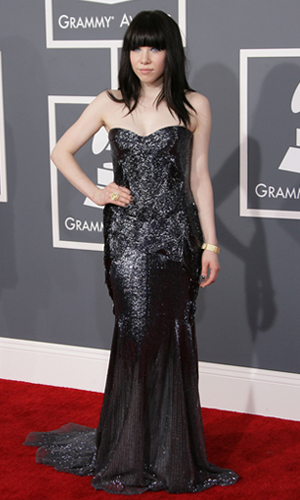 Carly Rae Jepsen at the 2013 Grammys