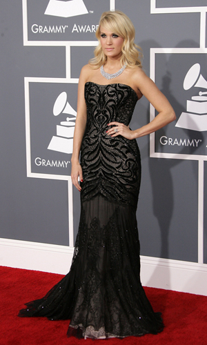 Carrie Underwood at the 2013 Grammys