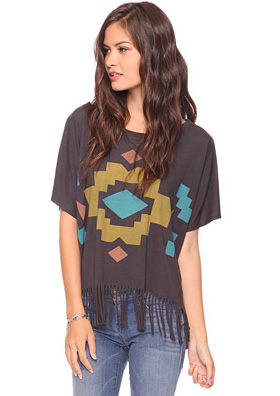 fringe tribal print top from Forever 21