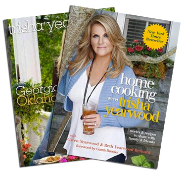 """Georgia Cooking in an Oklahoma Kitchen"" and ""Home Cooking with Trisha Yearwood,"""