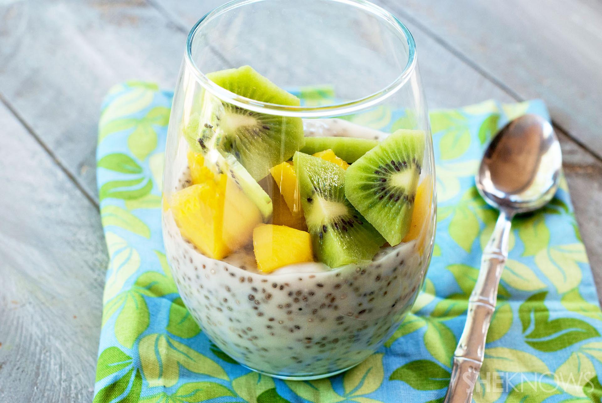 Creamy tropical chia pudding recipe