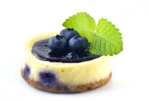 Vegan Blueberry Mini Cheesecakes