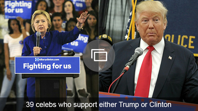 Celebs who support Trump, Clinton slideshow