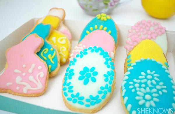 Easter egg and bunny cookies