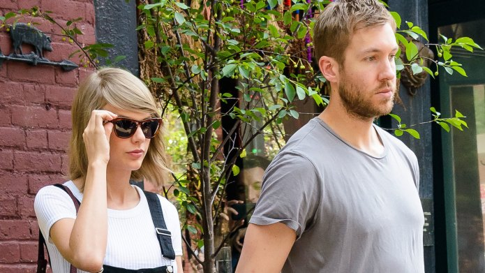 Taylor Swift and Calvin Harris celebrate