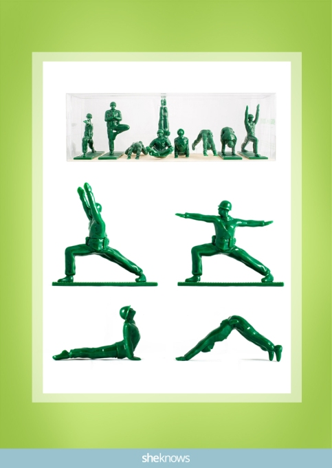 Series 1 Yoga Joes in green