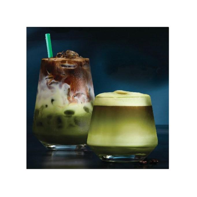 Matcha Espresso Infusion Drink Starbucks