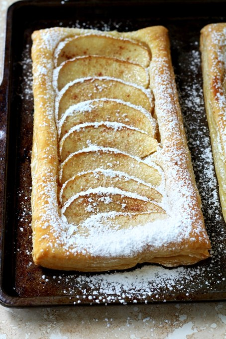 Dairy-free fall dessert recipes: puff pastry apple tart