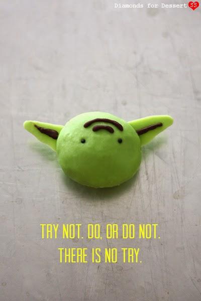 Star Wars Yoda matcha truffles