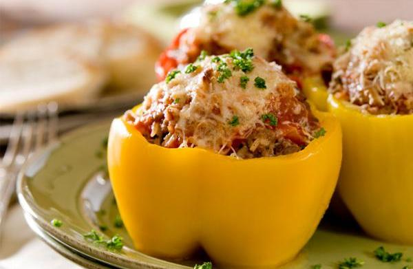 Sunday dinner: Bell peppers stuffed with