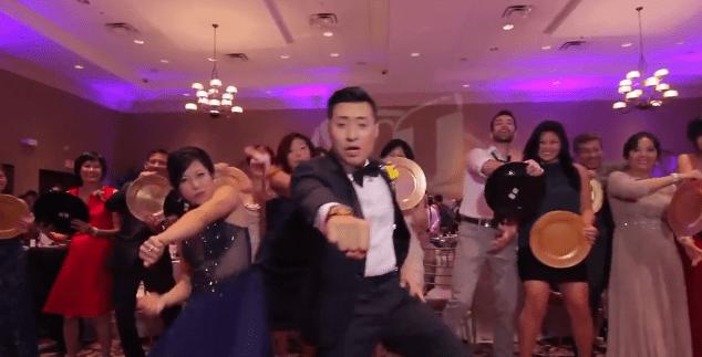Wedding flash mob showcases some amazing