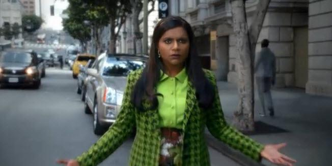 Mindy Kaling is actually invisible, just