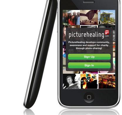 PictureHealing free photo sharing app benefits