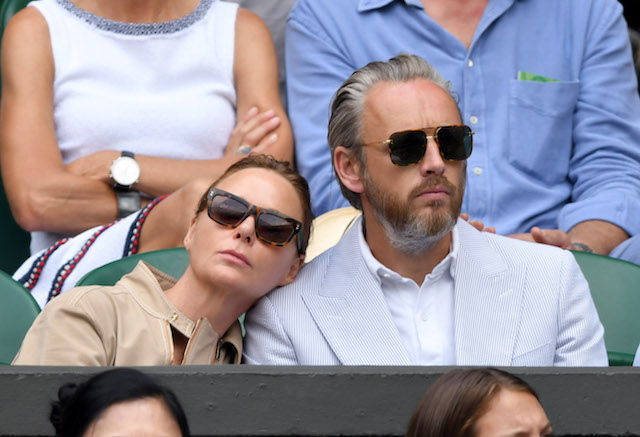 Stella McCartney and Alasdhair Willis attend day seven of the Wimbledon Tennis Championships at the All England Lawn Tennis and Croquet Club