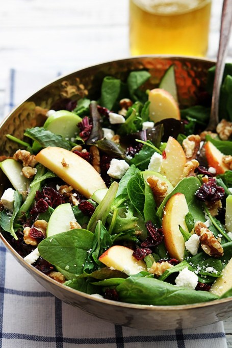 50 Easy Summer Salads: Apple Cranberry Walnut Salad | Summer Eats