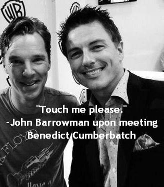 Benedict Cumberbatch and John Barrowman at Comic-Con.
