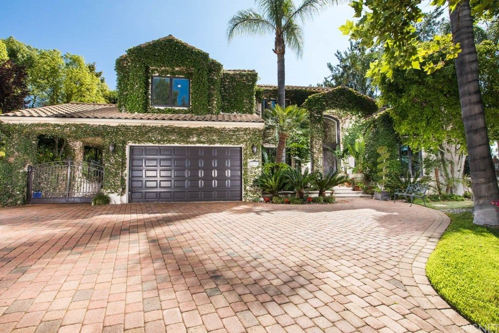Tupac Shakur's mansion is up for sale: The front entrance is a showstopper.