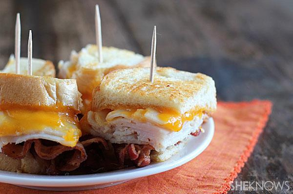 Turkey-bacon grilled cheese sandwich