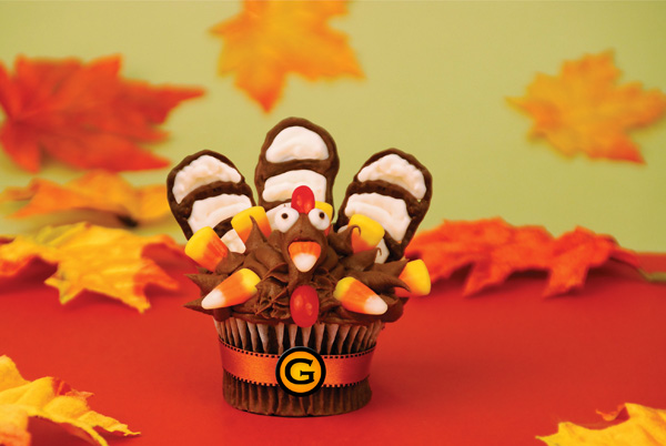 Turkey-inspired cupcake