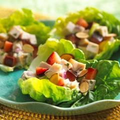 Tarragon turkey lettuce cups