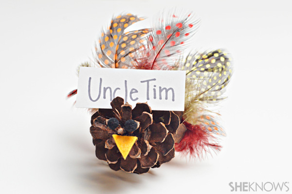 Pinecone turkey place holders