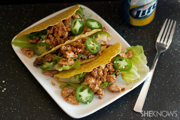 Spicy chipotle lime turkey tacos recipe