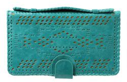 Leather-bound clutch