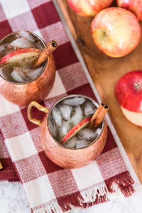 Spiked Apple Cider Recipes for All Your Fall Parties: apple cider moscow mule