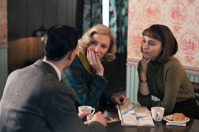 Still of Cate Blanchett and Rooney Mara in 'Carol'