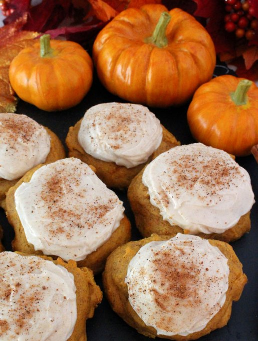 Popular Pinterest Cookies: Top these pumpkin spice cookies with cream cheese frosting